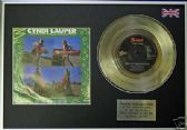 "CYNDI LAUPER - 7"" Platinum Disc+cover- GIRLS HAVE FUN"